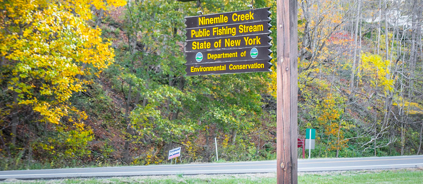 ninemile creek sign